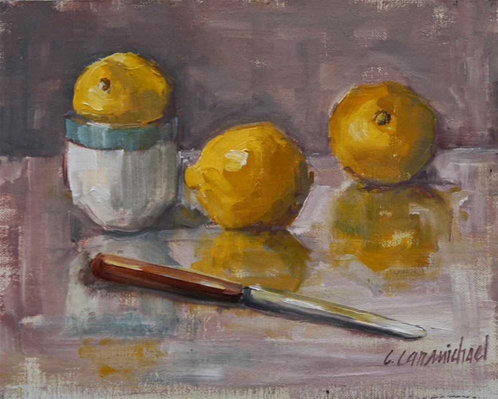 """tres limones"" original fine art by Carol Carmichael"