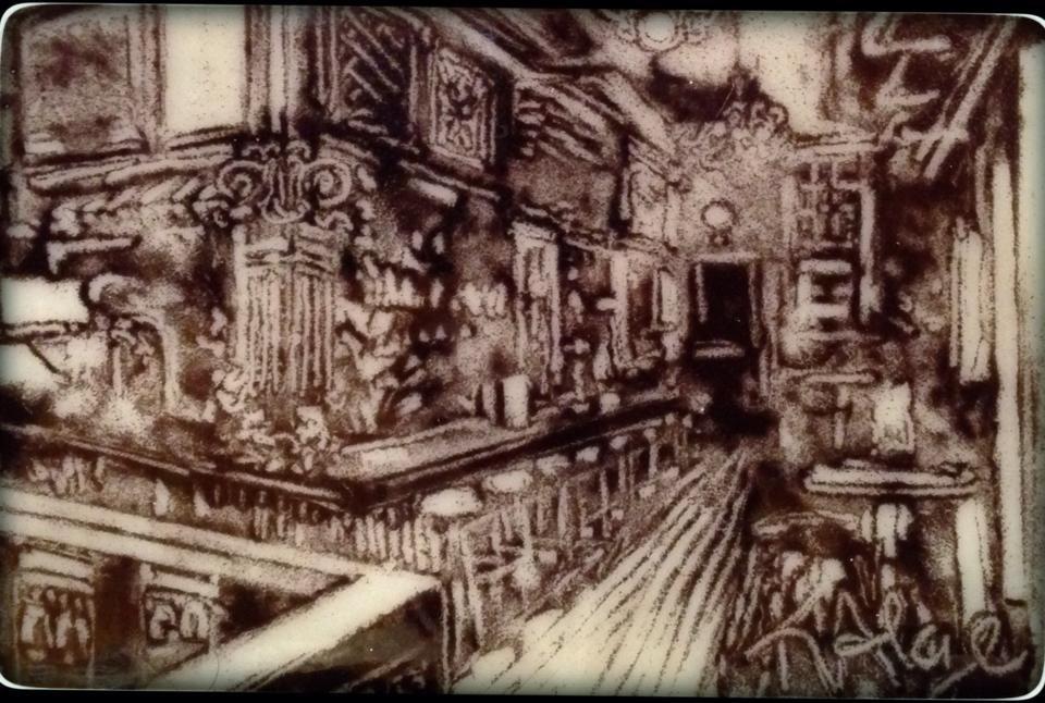 """Pub in the Morning"" original fine art by Kelly Alge"