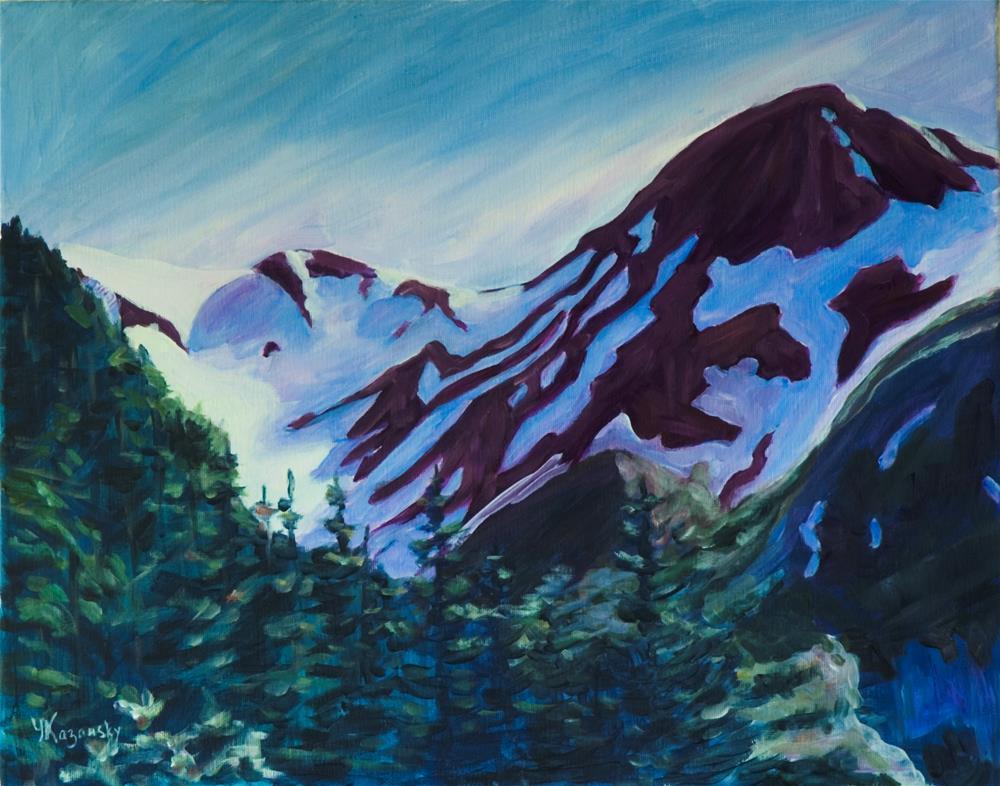 """Mt.Roberts, Alaska."" original fine art by Yulia Kazansky"