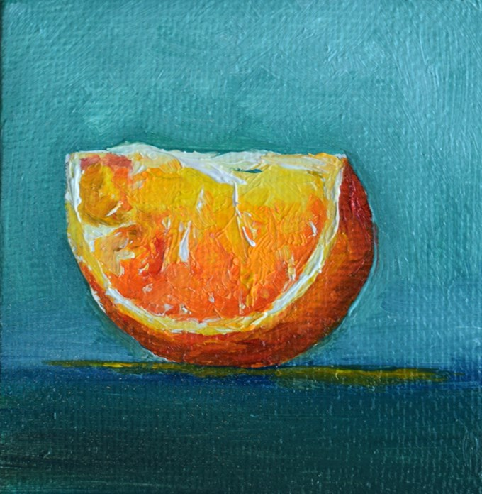 """Orange Slice"" original fine art by Stefan Peters"
