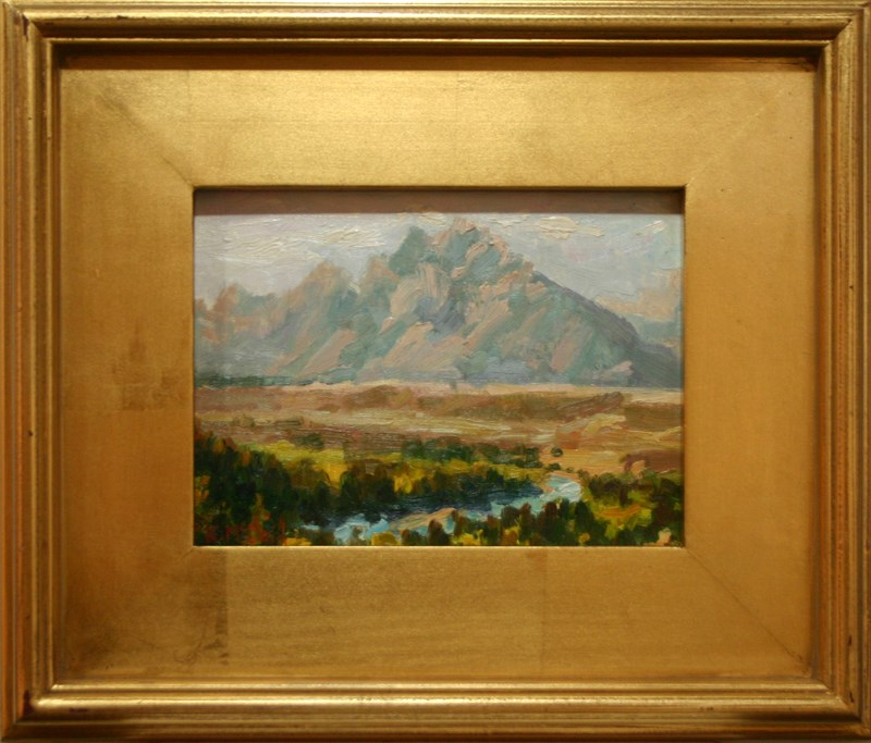 """Tetons in the Afternoon"" original fine art by K.R. McCain"