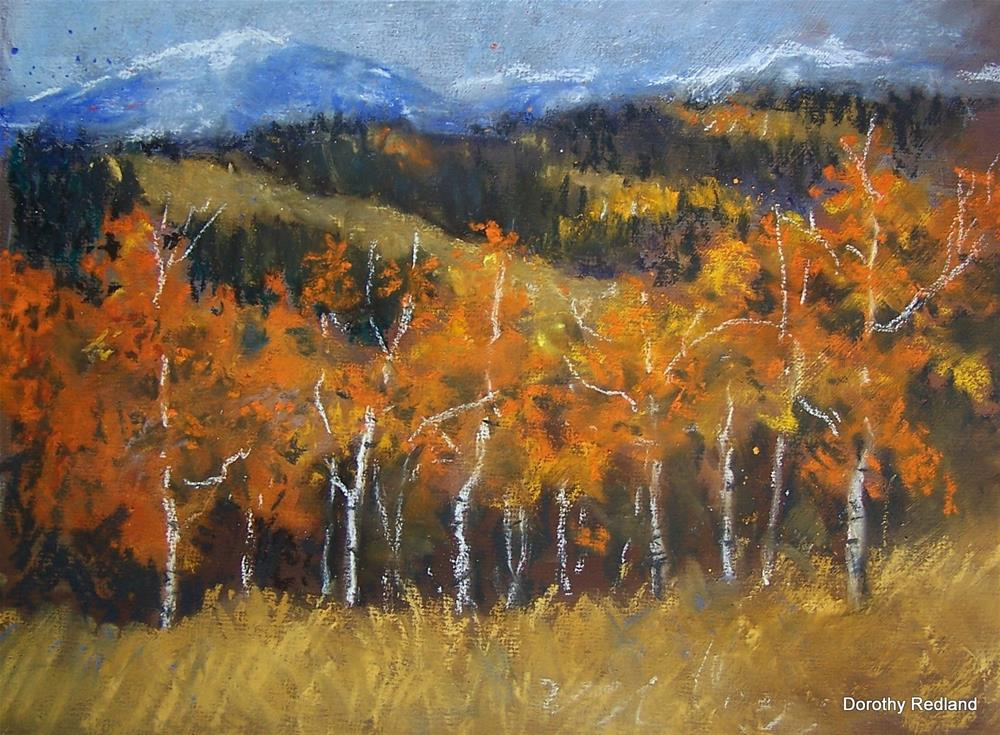 """Fall aspen below Mansurs"" original fine art by Dorothy Redland"