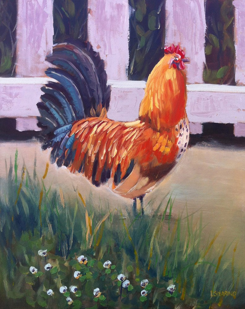 """Rule the Roost"" original fine art by Linda Marino"