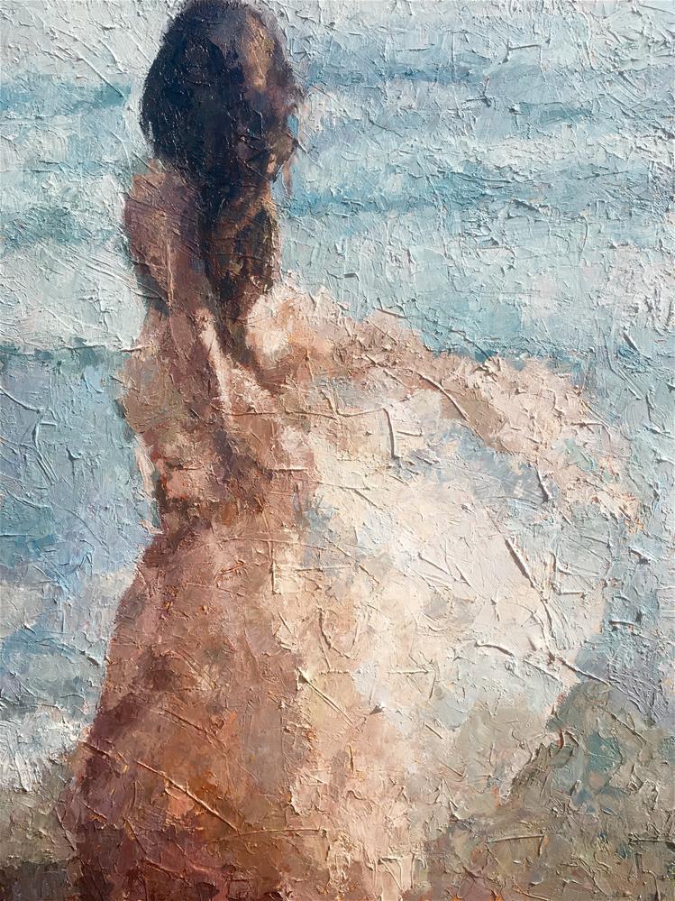"""Feeling the Ocean Breeze"" original fine art by Nava Judith"