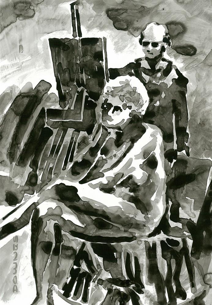"""306 ARTIST & MODEL 1"" original fine art by Trevor Downes"