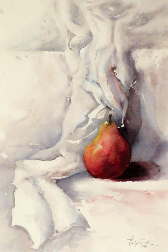 """""""Red on White"""" original fine art by Christa Friedl"""