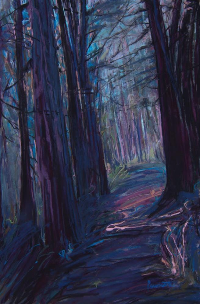 """""""Light on the Trail"""" original fine art by Sarah Peroutka"""