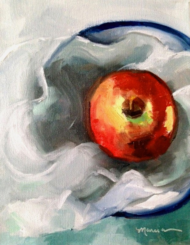 """Sexy Apple"" original fine art by Marcia Hodges"