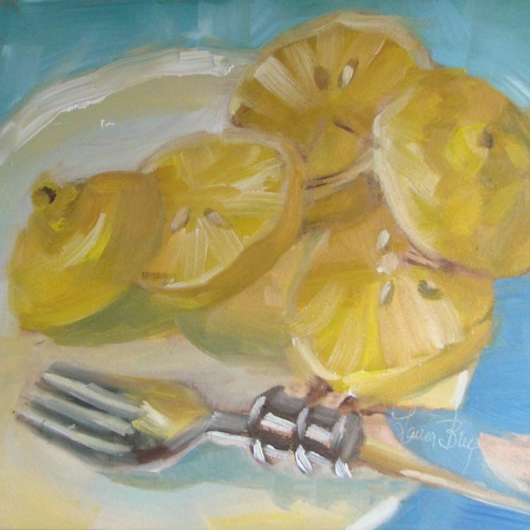 """Slices 458"" original fine art by Laura  Buxo"