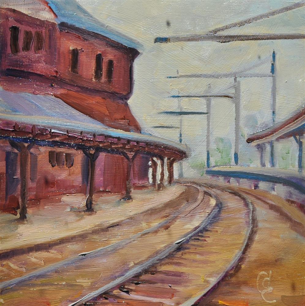 """Union Square"" original fine art by Catherine Crookston"