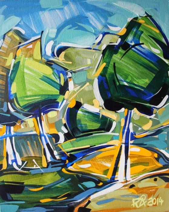 """Landscape Exploration 9"" original fine art by Roger Akesson"