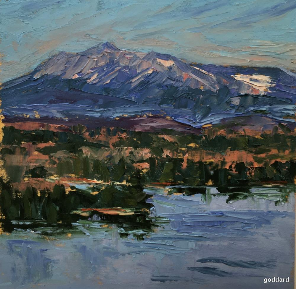 """Katahdin Dusk"" original fine art by Shari Goddard Shambaugh"