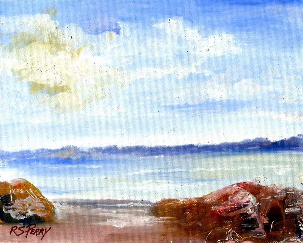 """Seascape:  Sunny Day"" original fine art by R. S. Perry"