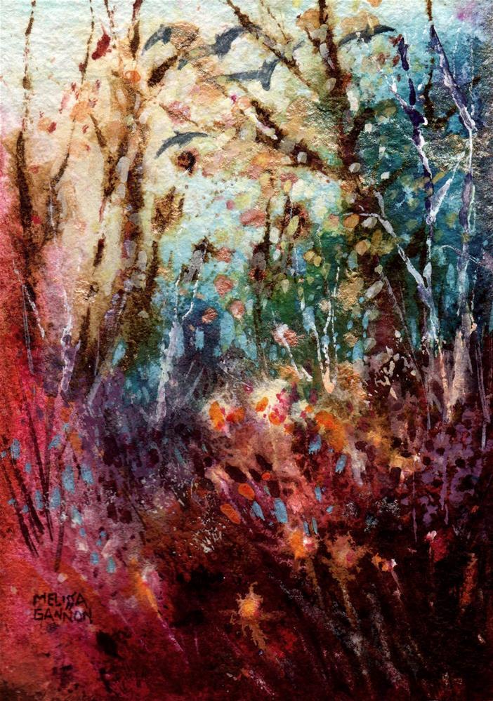 """Seedheads & Tangles"" original fine art by Melissa Gannon"