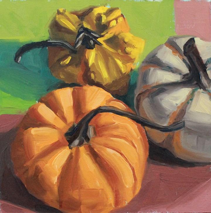 """Pumpkin, Pumpkin, Gourd"" original fine art by Nealy May Riley"