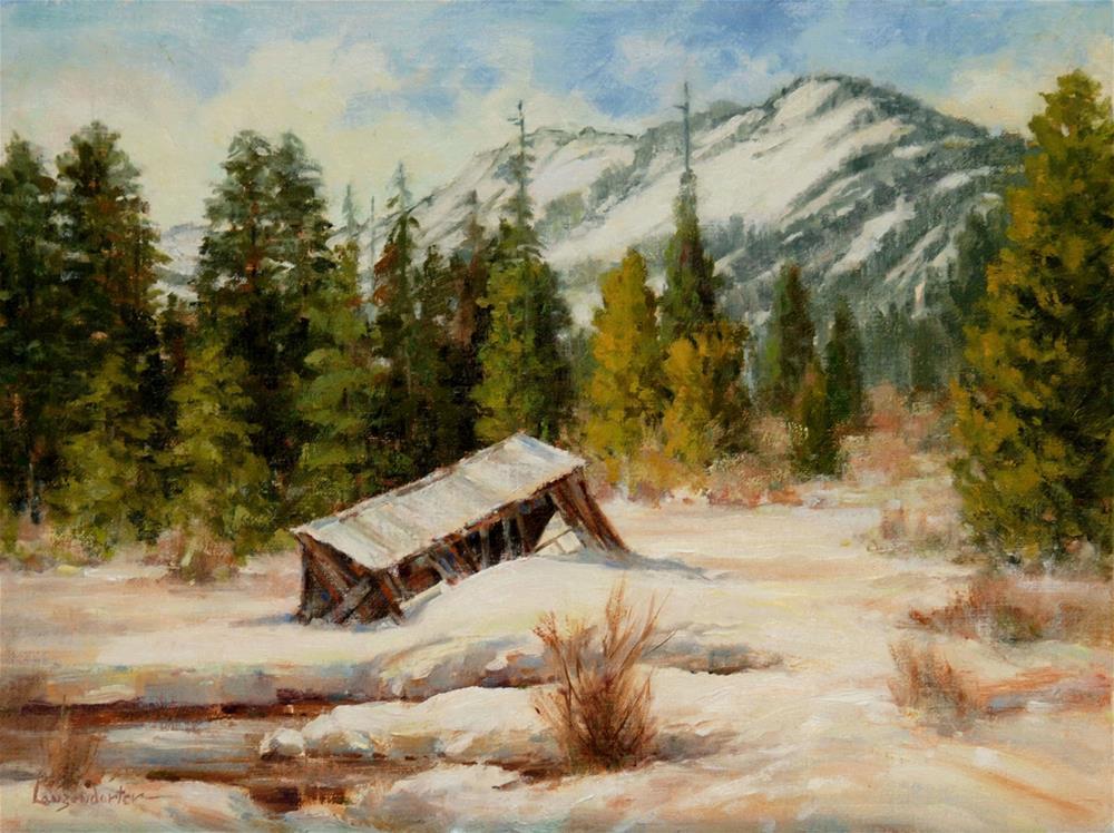 """SNOW - FALL"" original fine art by Dj Lanzendorfer"