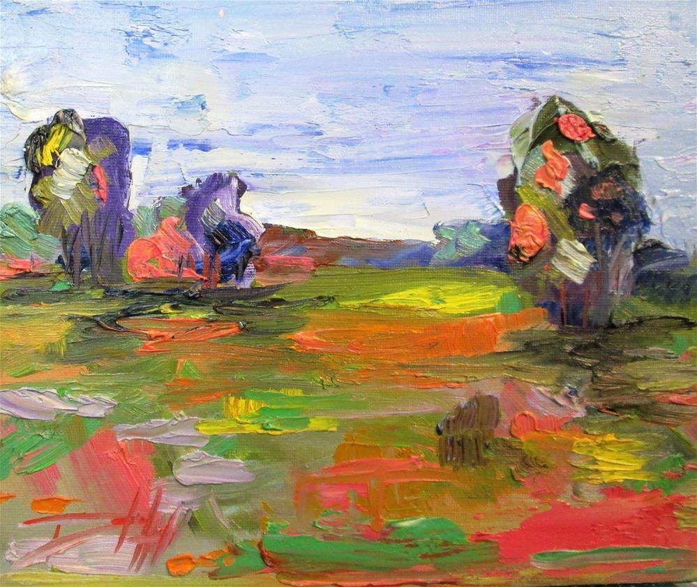 """Modern Landscape No.2"" original fine art by Delilah Smith"