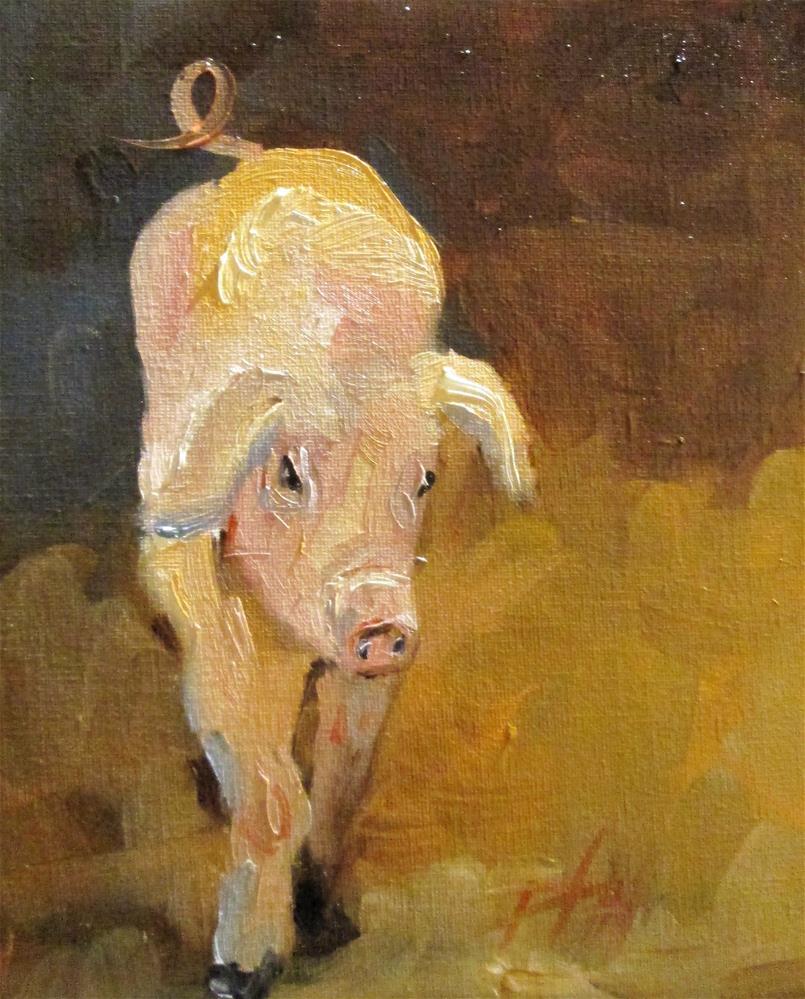 """Pig"" original fine art by Delilah Smith"