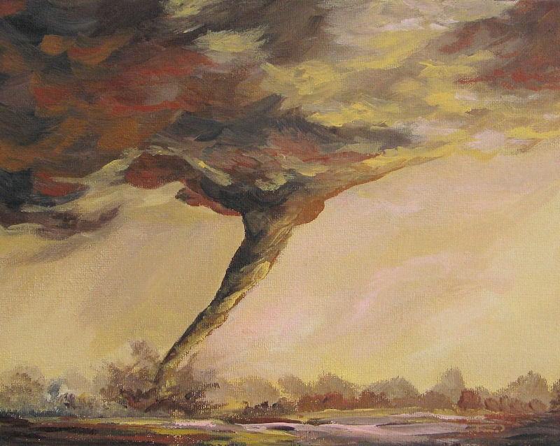 """Dust Devil"" original fine art by Torrie Smiley"