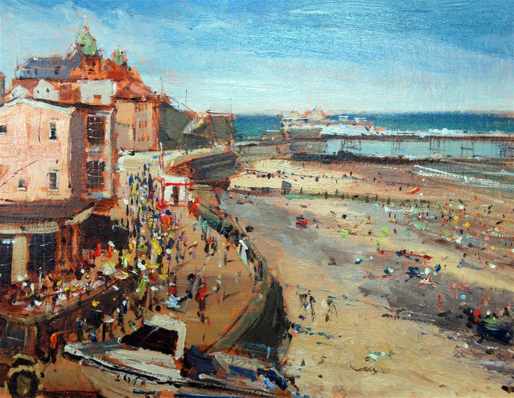 """The Cromer Pier, full scene"" original fine art by Adebanji Alade"