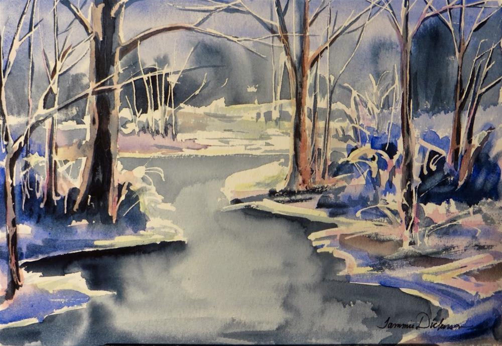 """""""Winter Wonder"""" original fine art by Tammie Dickerson"""