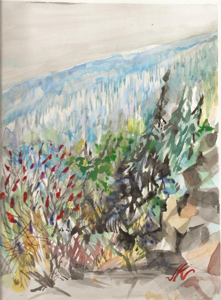 """""""I-87 North"""" original fine art by Jean Krueger"""