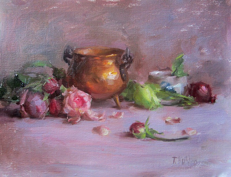 """brass pot"" original fine art by Taisia Kuklina"