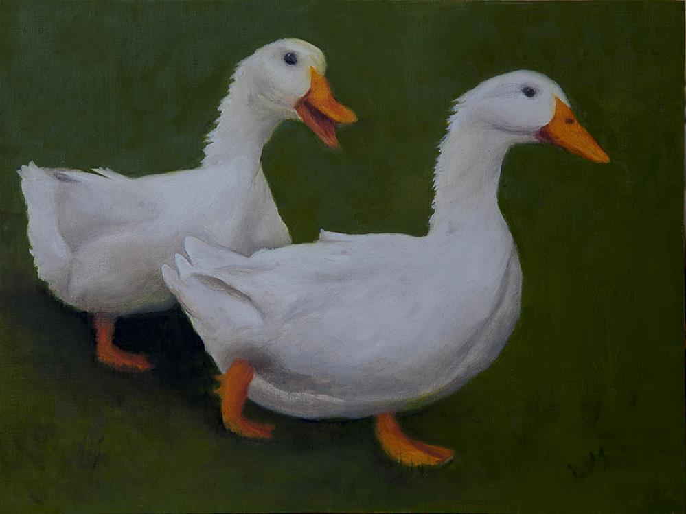 """""""Duckin' Out"""" original fine art by Linda Mann"""