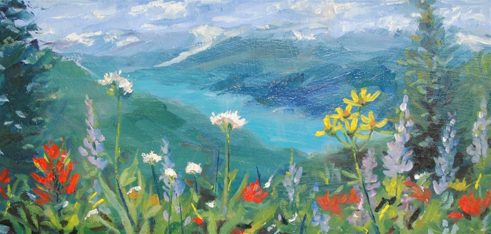 """Blooms on the North Ridge "" original fine art by Nan Perry"