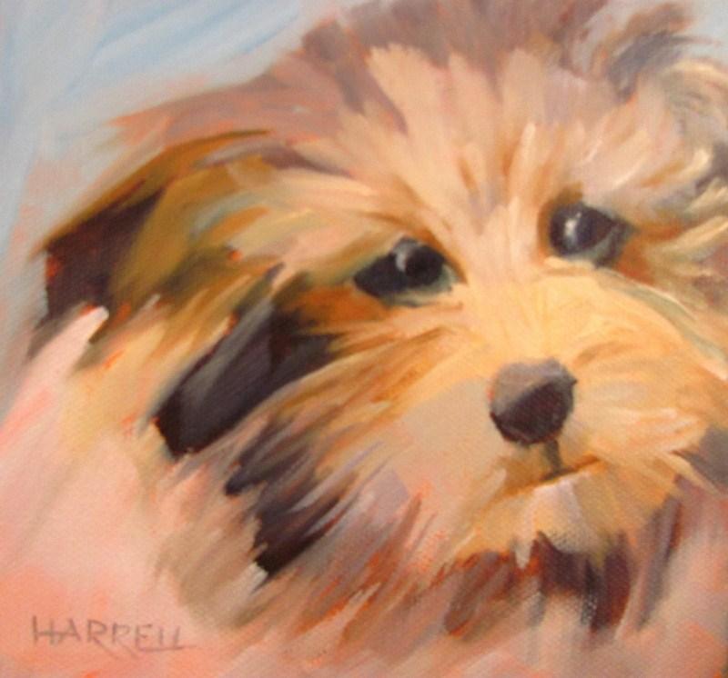 """Mutt"" original fine art by Sue Harrell"