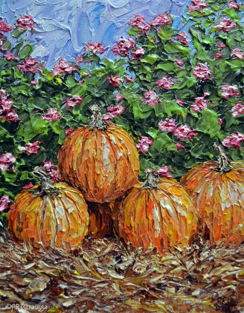 """Waiting By The Lantana"" original fine art by Gloria Ester"