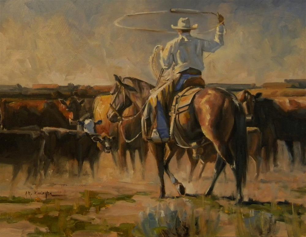 """""""A Day At The Office (Sold)"""" original fine art by Rick Kennington"""