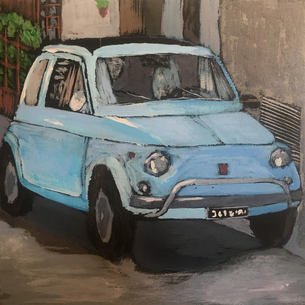 """Fiat 500 in its natural habitat"" original fine art by Francesco Favazza"