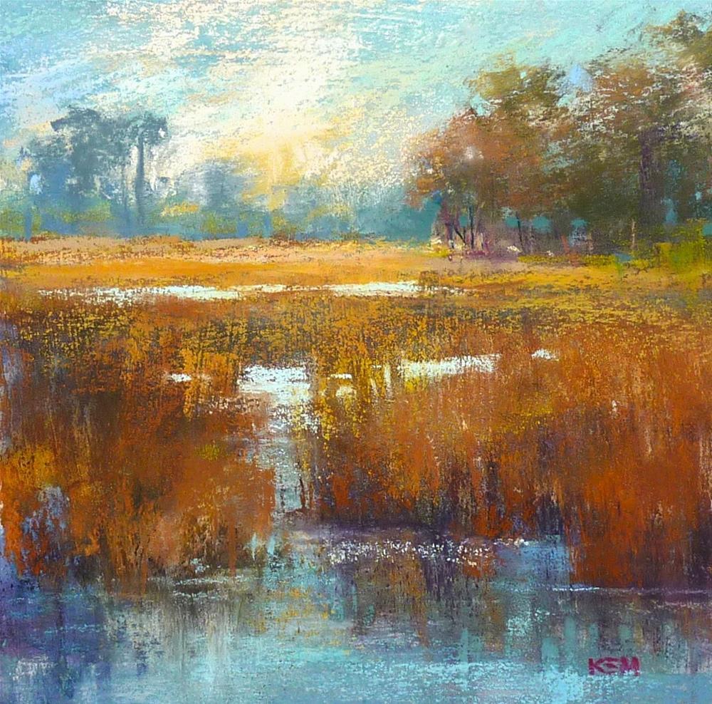 """Watercolor Underpainting....Choosing Colors"" original fine art by Karen Margulis"