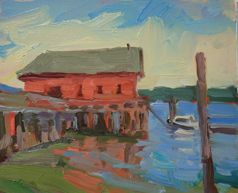 """Coupeville Wharf"" original fine art by Kathryn Townsend"