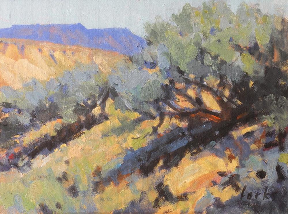 """Wyoming Sage"" original fine art by David Forks"