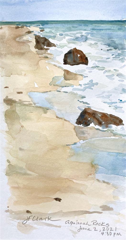 """""""Aquinnah Rocks"""" original fine art by Judith Freeman Clark"""
