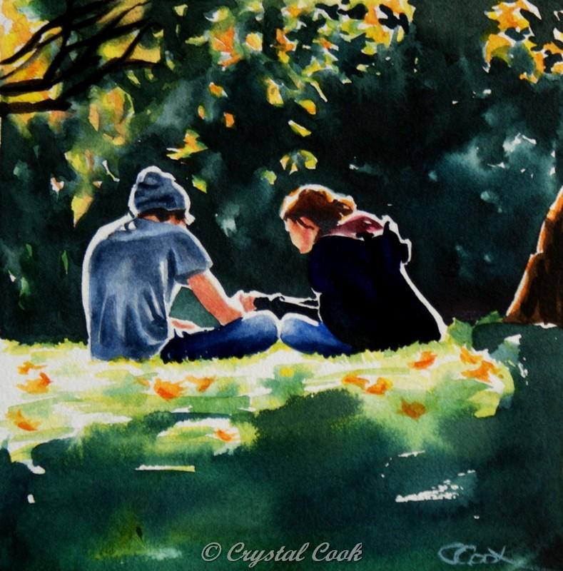 """Newly Smitten"" original fine art by Crystal Cook"