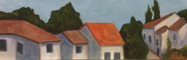 """""""Rooftops"""" original fine art by Karen Collins"""