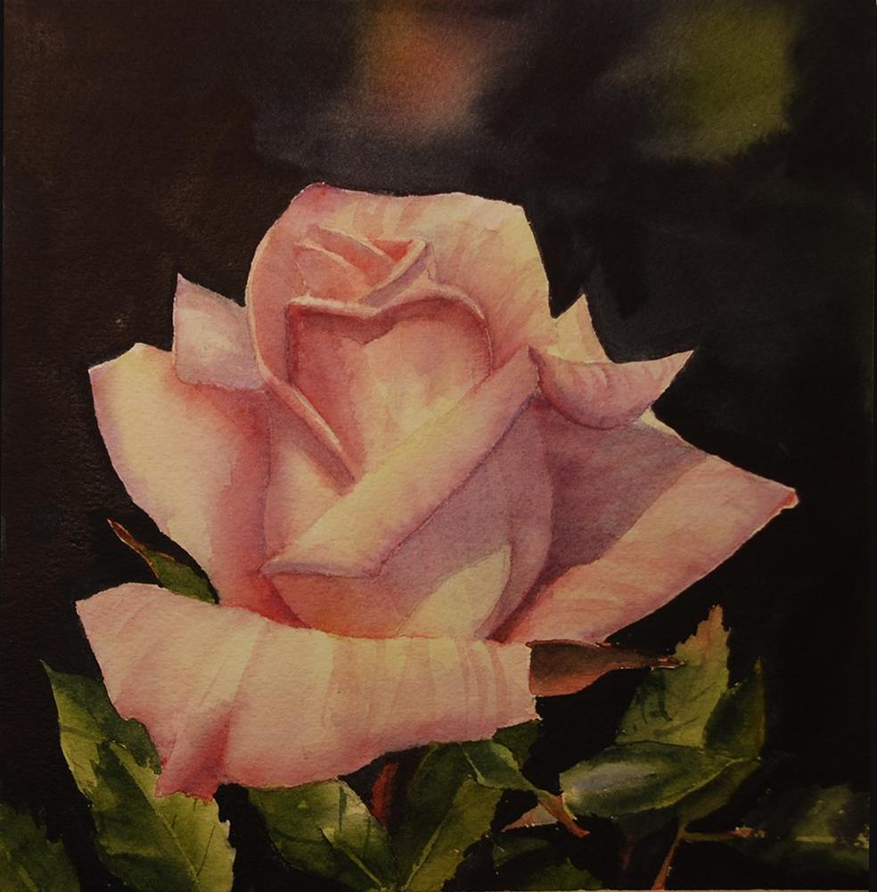 """Light Pink Rose"" original fine art by Mary Anderson"
