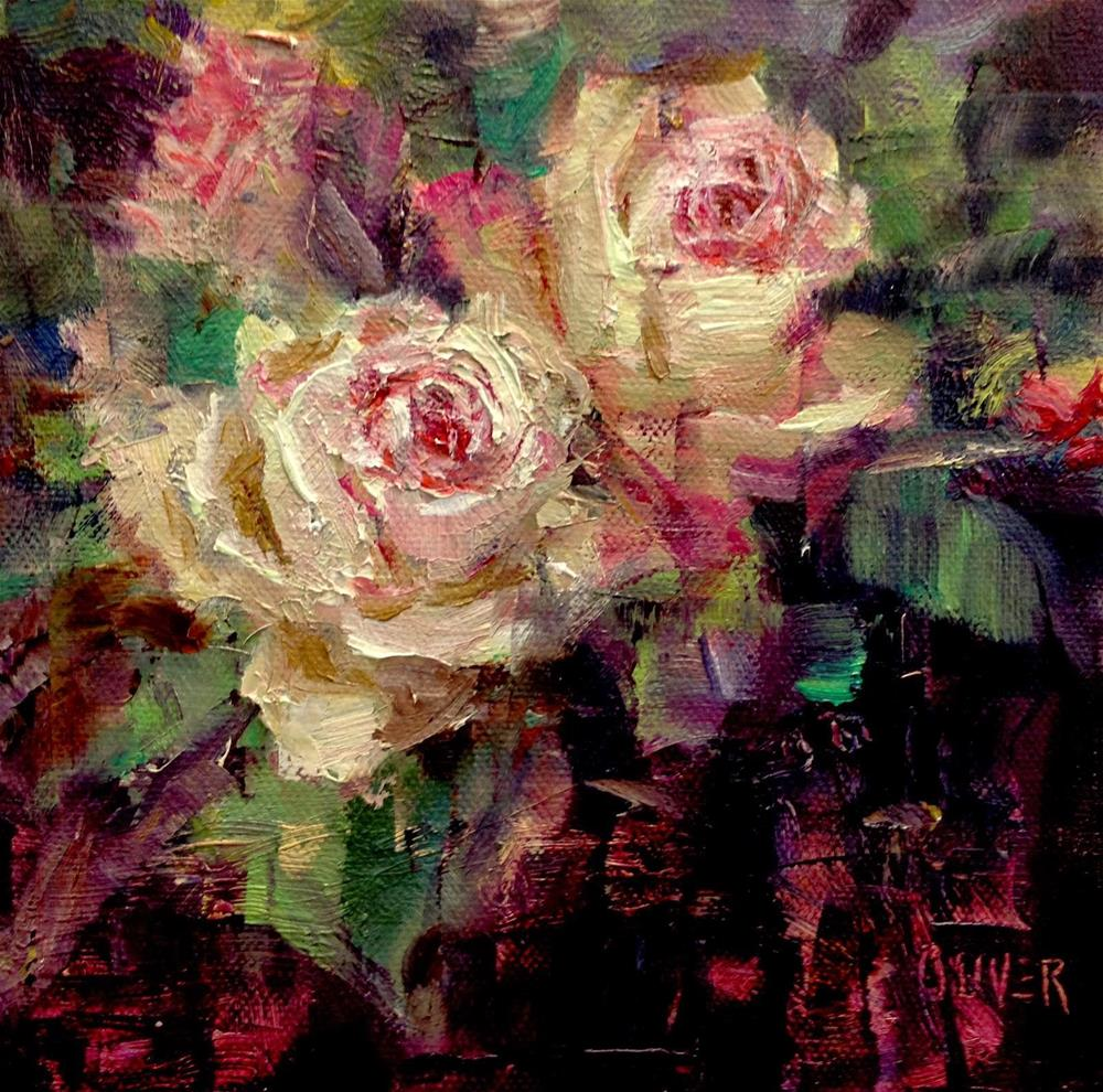 """Birthday Flowers -  Roses"" original fine art by Julie Ford Oliver"