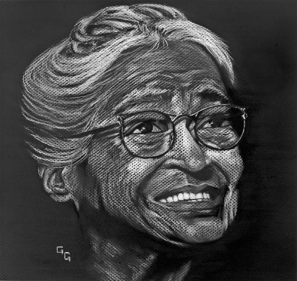 """""""Ms. Rosa Parks"""" original fine art by G. G. Slockett"""