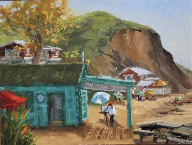 """Crystal Cove Painter"" original fine art by Karen Werner"