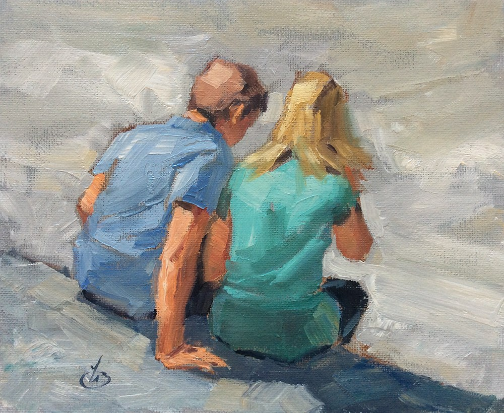 """SHARING A MOMENT"" original fine art by Tom Brown"