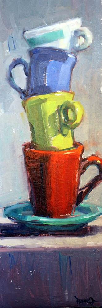 """""""Another Stack"""" original fine art by Cathleen Rehfeld"""