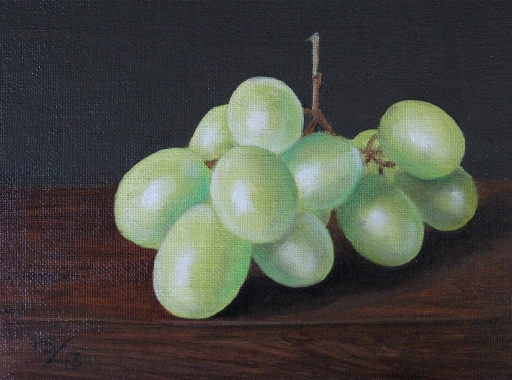 """""""White Grapes"""" original fine art by Pera Schillings"""