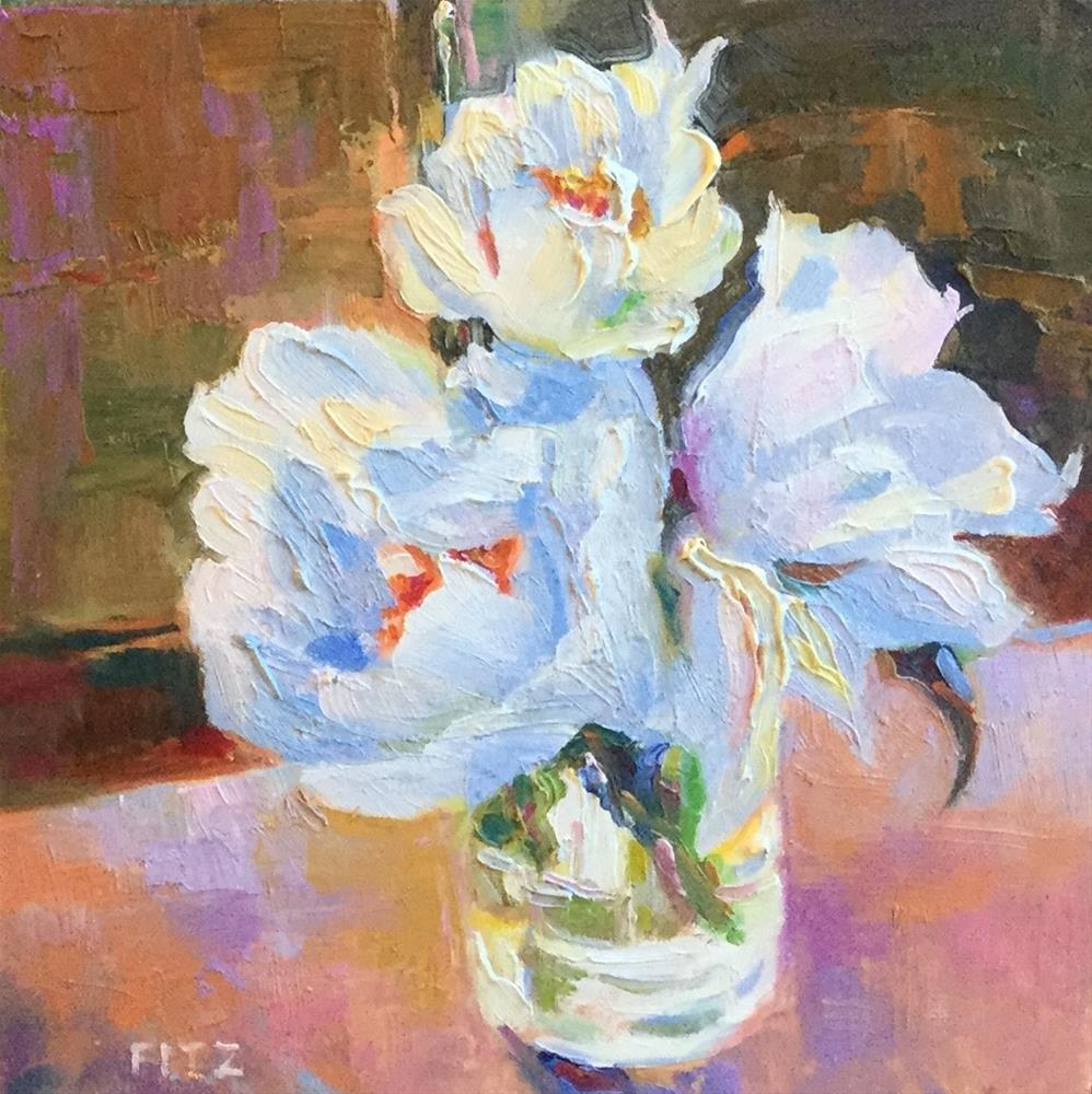 """My Peonies"" original fine art by Charlotte Fitzgerald"