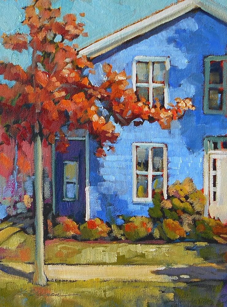 """Goldsborough Street Blues"" original fine art by Jeanne Bruneau"