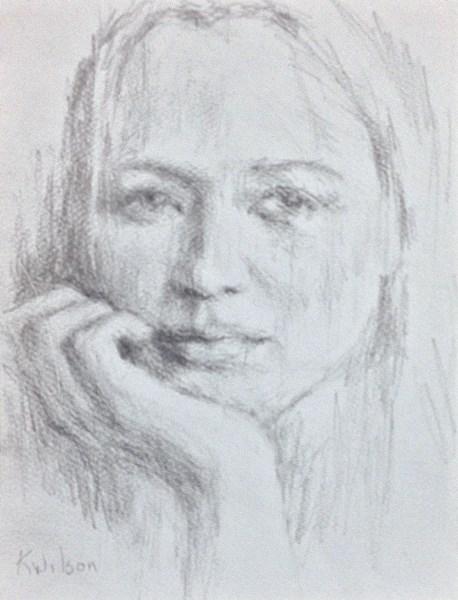 """Drawing 12"" original fine art by Katie Wilson"