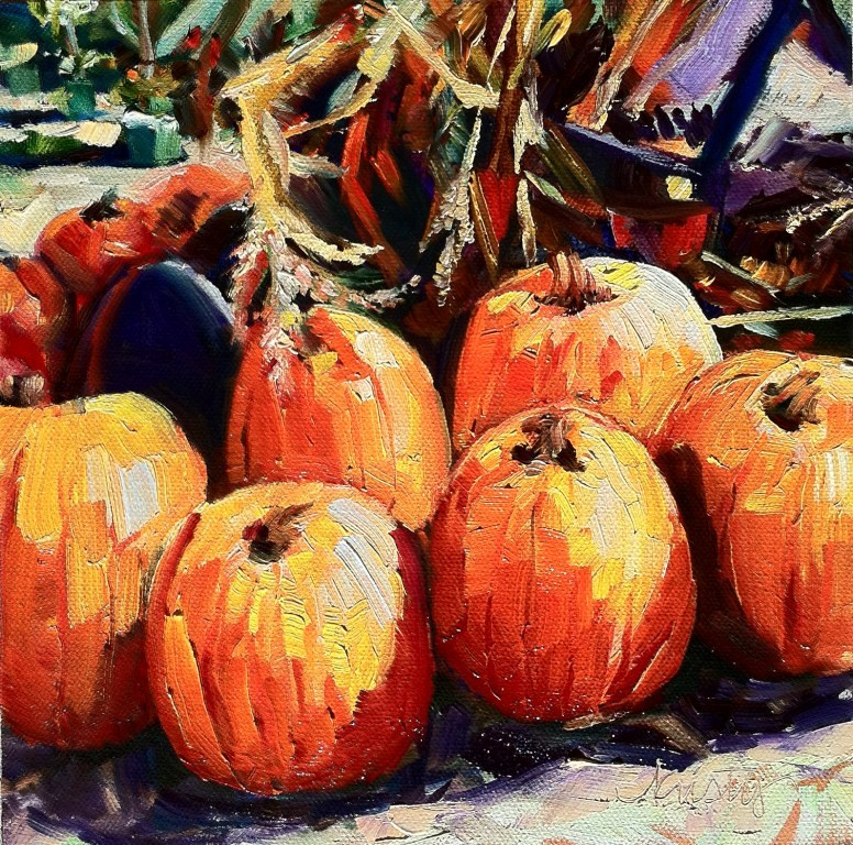 """PUMPKIN PATCH"" original fine art by Kristy Tracy"